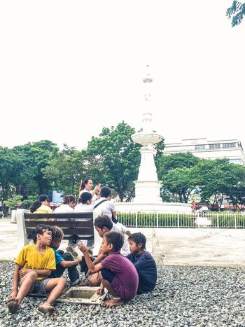 Rock Go EyeemPhilippines IPhoneography Children Play Streetphotography Fuente Osmeña Circle Cebu City Brother Society Ramosstreet Street Photography Moments Life