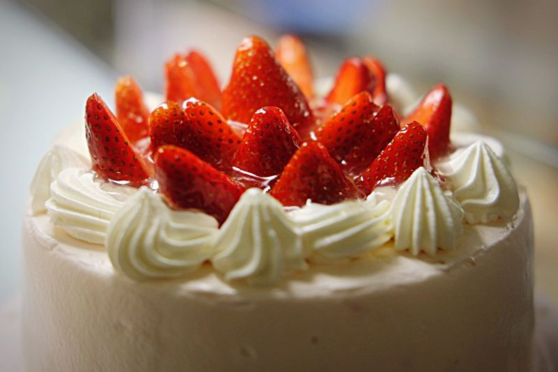 Indulgence Freshness Temptation Food And Drink Dessert Strawberry Sweet Food Close-up Strawberry Cake Food Photography Ready-to-eat Food Indoors  Whipped Cream Fruit No People