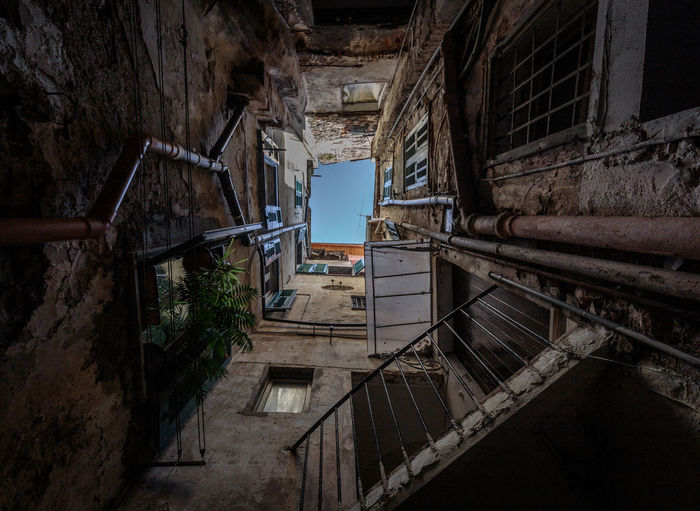 Architecture Building Built Structure Day Deterioration Diminishing Perspective Empty Narrow No People Old Run-down The Way Forward