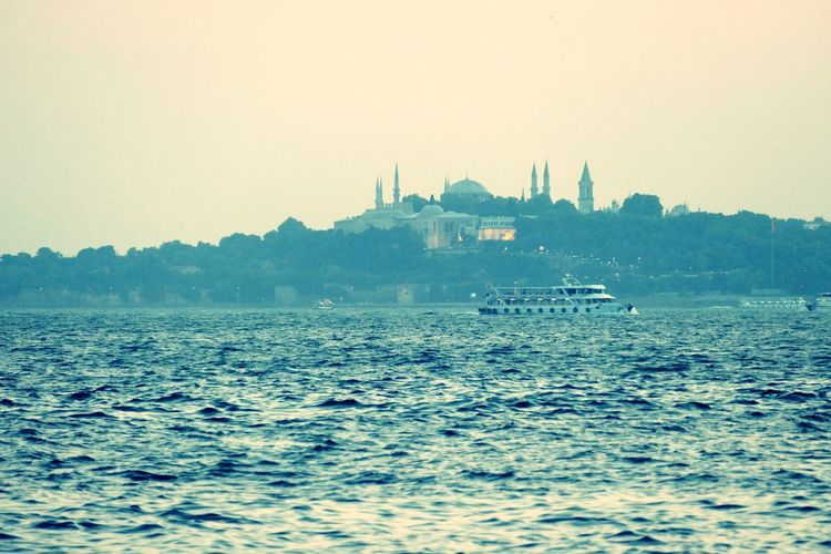 Istanbul Sea Mosque Would Like To Swim Showing Imperfection