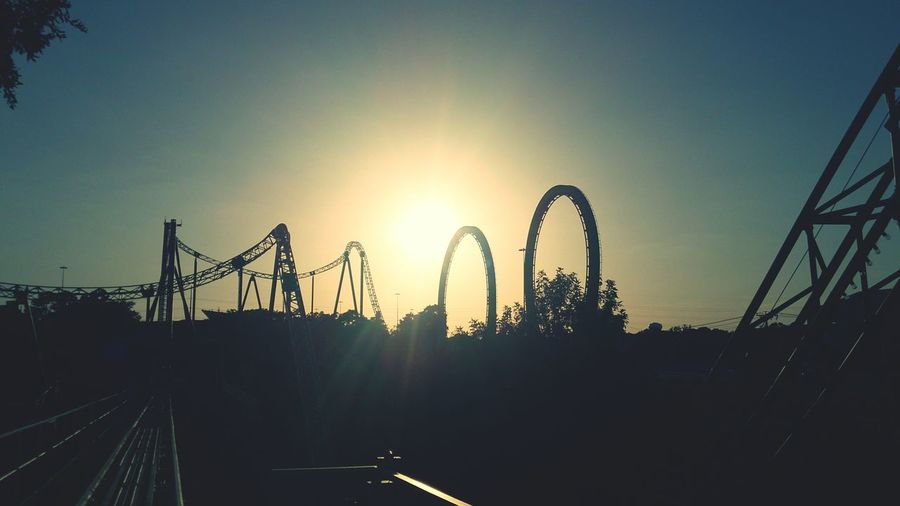 Crazy Ride Six Flags Over Texas Sunset #sun #clouds #skylovers #sky #nature #beautifulinnature #naturalbeauty #photography #landscape