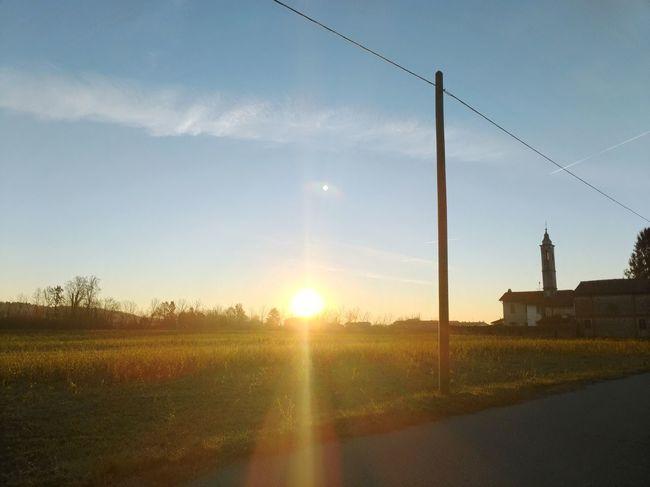 Sunset Sunlight Rural Scene Sky Cloud - Sky