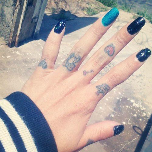 Unhas Feitas Nails Black &blue pretoazul :)
