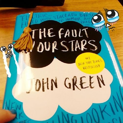 """Finally reading it~ First chapter was SO good! """"I'm on a roller coaster that only goes up, my friend."""" Thefaultinourstars Johngreen Agustuswaters Timetocry books quote"""