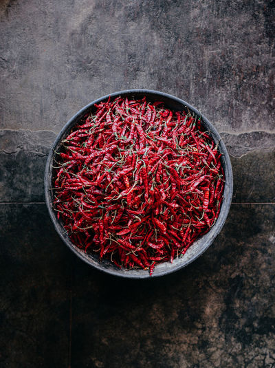 A red peppers in Jodhpur spice market Chili Pepper India Indian Jaipur Jodhpur Red Pepper Chili  Directly Above Food And Drink Freshness High Angle View Indoors  Leaf Leica Leicacamera Pepper Rajasthan Red Spice Summilux