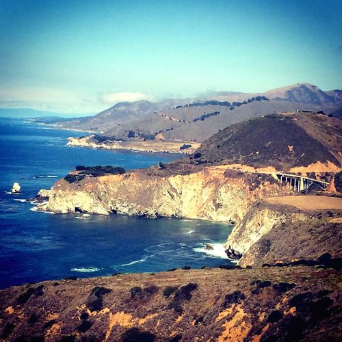 On The Road Bigsur Roadtrip California Amazing View Enjoying The View Beautiful Landscape_photography Taking Photos Paradise Life Is Beautiful Colors Beachphotography Nature_collection Waves, Ocean, Nature Sea Loveit Road Scenics
