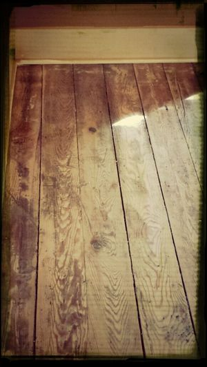 refinishing hardwood floors day!