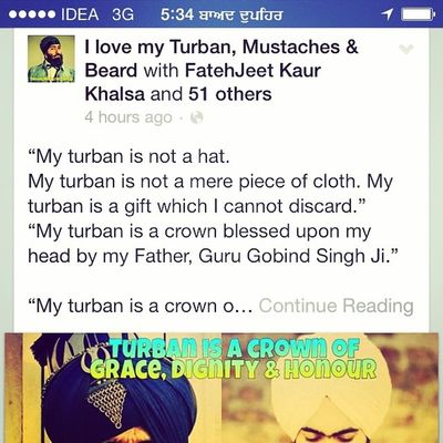 My Turban Isnot A hat ?