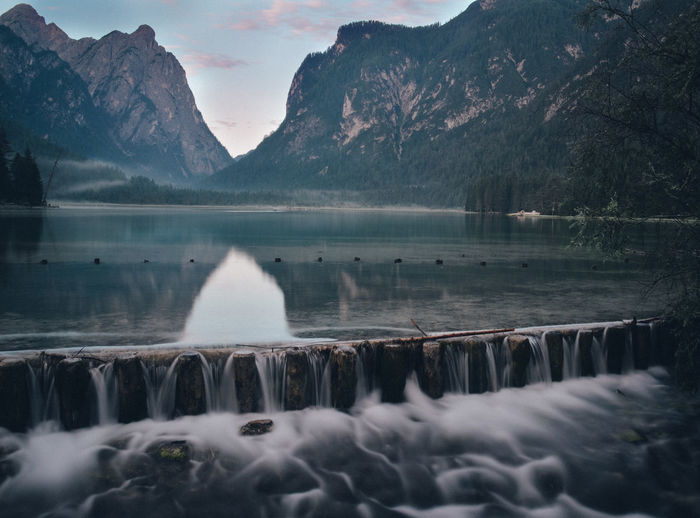 A weekend of camping with my mates Beauty In Nature Blurred Motion Day Flowing Water Formation Idyllic Lake Long Exposure Motion Mountain Mountain Range Nature No People Non-urban Scene Reflection Scenics - Nature Sky Tranquil Scene Tranquility Water