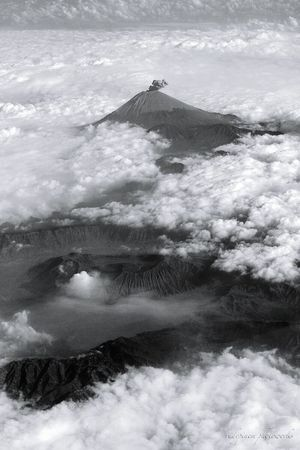 """""""the king of fire"""". Semeru Volcano, East Java - Indonesia, captured during afternoon flight. Highlights From Aerial Shot Hello World Volcano INDONESIA Mount Semeru Volcanoes Shades Of Grey Contemplative"""