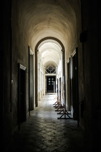 Arch Arched Architecture Archway Corridor Day Diminishing Perspective Indoors  Long Narrow No People Passageway The Way Forward