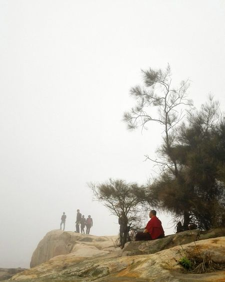 Putuoshan Monk  Mist Disappearing At The Edge Of The World Balancing Act Zhoushan China Buddhist Check This Out
