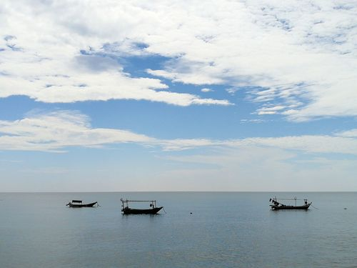 Nautical Vessel Transportation Sea Cloud - Sky Outdoors Day Silhouette Horizon Over Water Water Sky Fisherman Nature People Boats Malaysia Let's Go. Together. Kuala Terengganu Been There.
