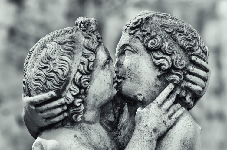 Roman Empire ruins, Ostia Antica, Rome. Ancient Antique Black & White Empire Kiss Remains Rome Ruins Aged Antica Art And Craft Black And White Blackandwhite Blurred Background Civilization Close-up Human Representation Italian Italy No People Old Ostia Roman Sculpture Statue