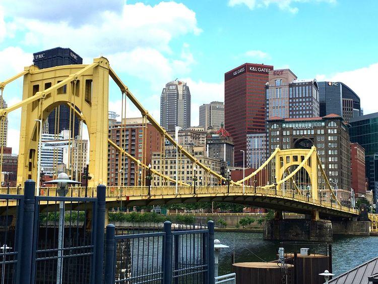 Pittsburgh Roberto Clemente Bridge Architecture