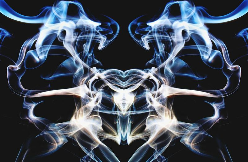 """Pelvis"" Smoke Art Photography in blue and white. Smoke - Physical Structure Symmetry Black Background Swirl Surreal Fragility Abstract Pattern Ethereal Close-up Vapor Trail Particle Wispy Fumes Studio Shot Form Motion Change Nawfal Smoke-Art Blue Waves Of Smoke Pelvis Conceptual Photography  Still Life Photography"