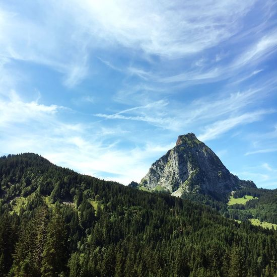 Grosser Mythen Switzerland Mountain Sky Beauty In Nature Landscape Outdoors Forest Nature Beauty In Nature