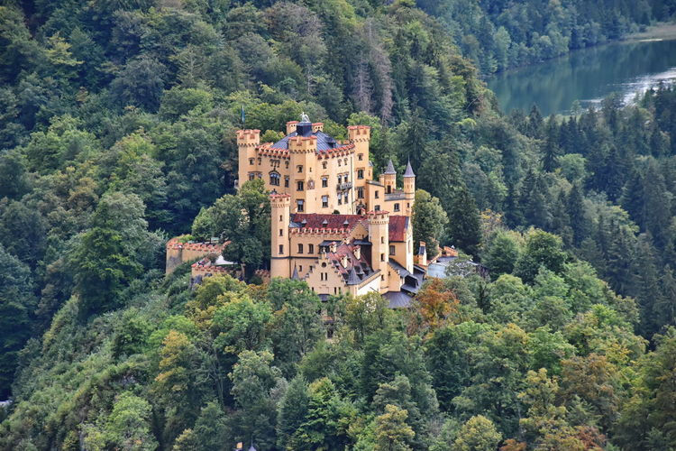 High angle view of castle in germany