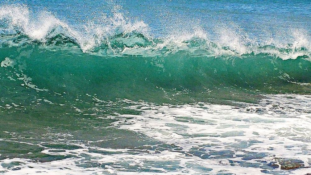 Wave Wavephotography Beach Ocean Water Textured  Full Frame Abstract Ink Pattern Close-up