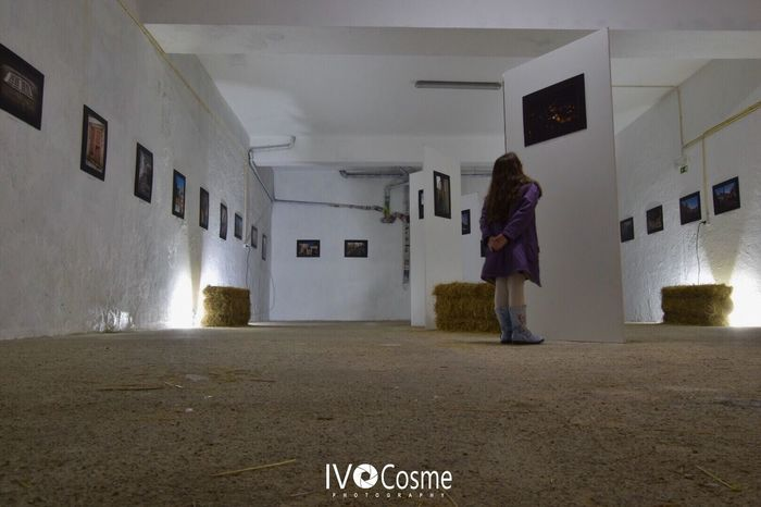 One Person Indoors  Illuminated Real People Standing Exposition Serra Da Estrela Seia Portugal