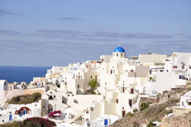 Architecture Day Greece Greek Islands I No People Outdoors Santorini Sea Sky Tourism Travel Travel Destinations Traveling Vacations Vacations Whitewashed