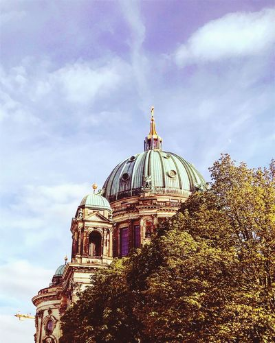 Berlin Part III - Cathedral of Berlin Meers Nature Photography Naturemeetscity Beautiful Built Structure Architecture Sky Cloud - Sky Building Exterior Place Of Worship 10 Belief Spirituality No People Ornate Outdoors Nature Religion Travel Destinations Low Angle View Building Dome Spire