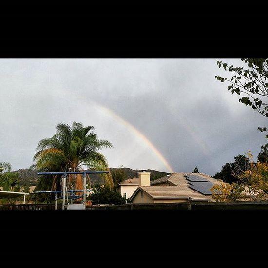 Doublerainbow FlashFloodWarnings Yucaipa Storm Thunder HCII Rainbow