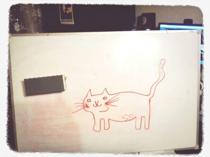 я нарисовал котэ. в рамках обучения