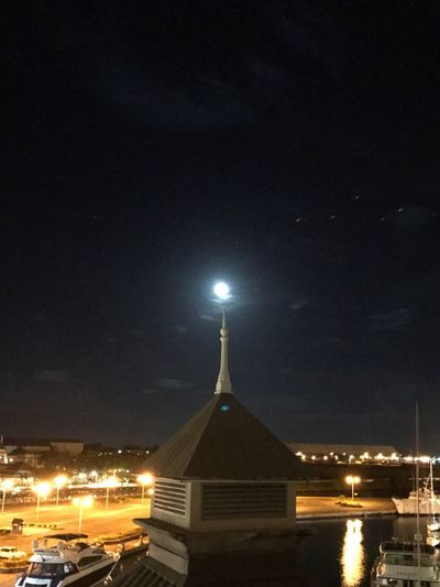 Night Illuminated Architecture Building Exterior Built Structure Sky Building Nature Moon Travel Destinations Place Of Worship Outdoors Star - Space Lighting Equipment Tower Space Astronomy City No People Water