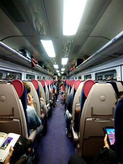 Sunday night commuters Transportation Travel Journey Public Transportation Passenger Passenger Cabin Train - Vehicle Commuter First Eyeem Photo