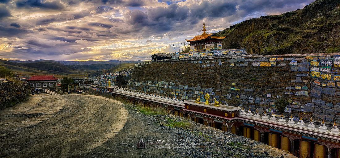 扎西寺 雲海 佛教 古建築 旅游 四川甘孜 扎西寺