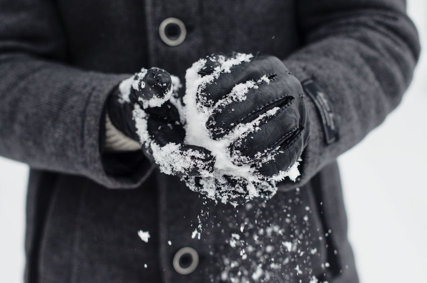 #White #Winter #black  #blackandwhite #blackgloves #cold #gloves #nikon #nikonD5100 #nikontop #snow #snowball Close-up Day Focus On Foreground Holding Human Body Part Human Hand Men Midsection One Person People Real People Shades Of Winter EyeEmNewHere Press For Progress This Is Masculinity Modern Workplace Culture