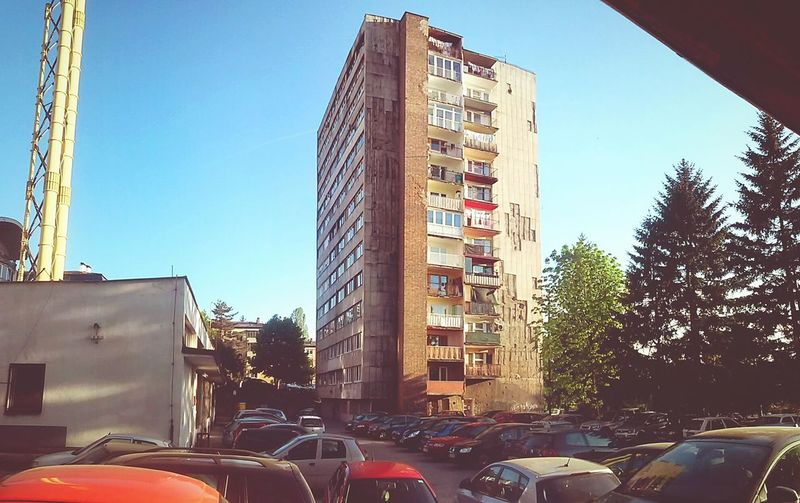 A building in a part of Sarajevo,Bosnia and Herzegovina
