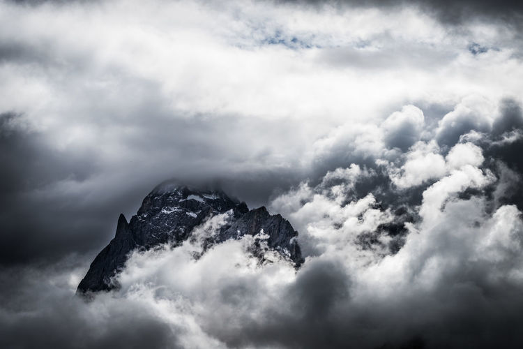 Dramatic Dolomites Beauty In Nature Cloud - Sky Clouds Cloudscape Day Dramatic Dramatic Sky Mountain Mountain Peak Mountains Nature Outdoors Overcast Rock Rock - Object Scenics - Nature Sky
