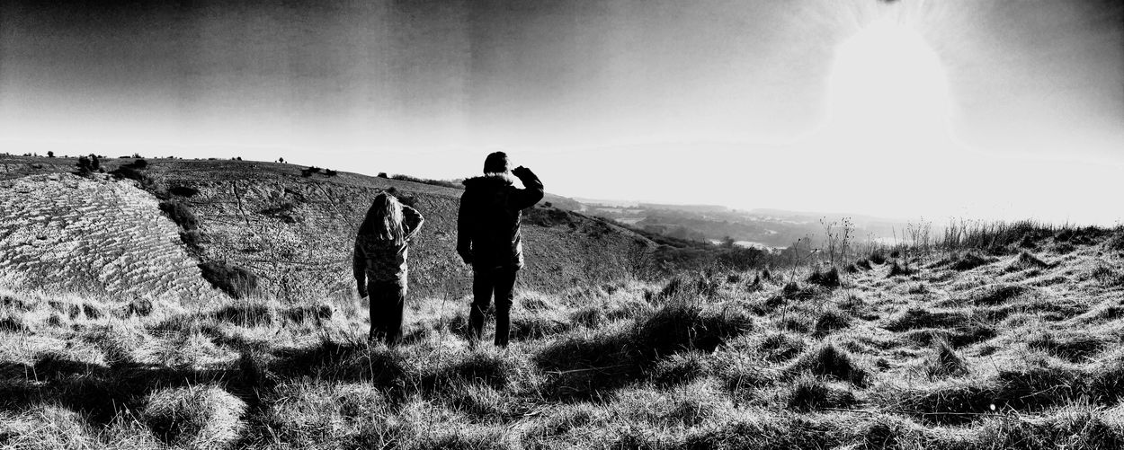 Brother & Sister Family Place Of Beauty Black And White IPhoneography Countyside Kent Wye Downs Fresh Air Nature Nature Little Explorer Open Field Viewpoint Grassland The Great Outdoors - 2017 EyeEm Awards The Great Outdoors - 2017 EyeEm Awards