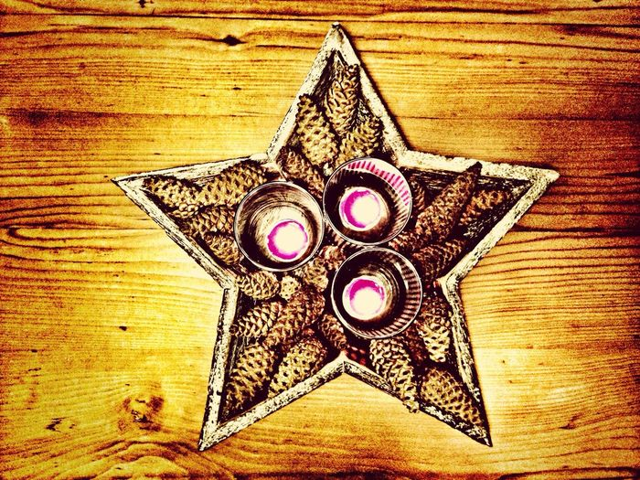 Candlestick #candlestick #star Candles #cones #snapseed #iphonephoto #instagram Iphonephotography