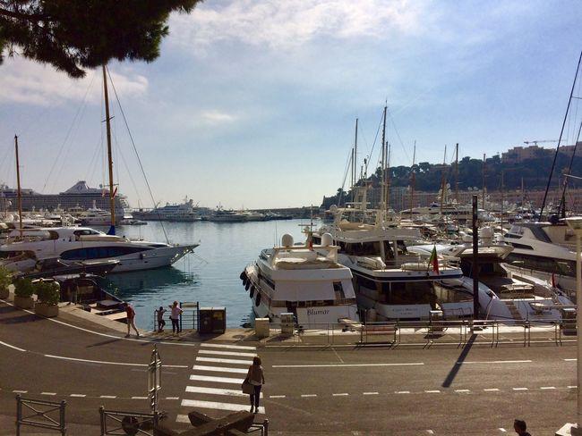 Monaco 💕 Transportation Nautical Vessel Mode Of Transportation Water Moored Harbor Sky