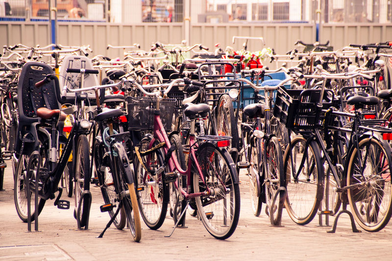 Amsterdam City City Life Cityscape Absence Architecture Bicycle Bicycle Shop Choice City City View  Citylife Day Focus On Foreground Group In A Row Land Vehicle Large Group Of Objects Mode Of Transportation No People Outdoors Parking Lot Stationary Street Transportation Wheel