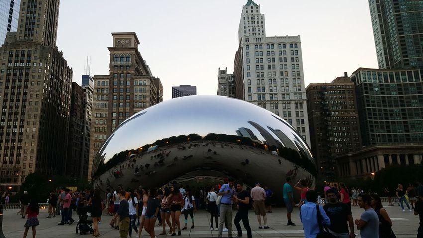 "Cloud Gate ""The Bean"" - Chicago, IL - August 3, 2016 Chicago Chicago Architecture Bean Cloud Gate Millenium Park First Eyeem Photo"