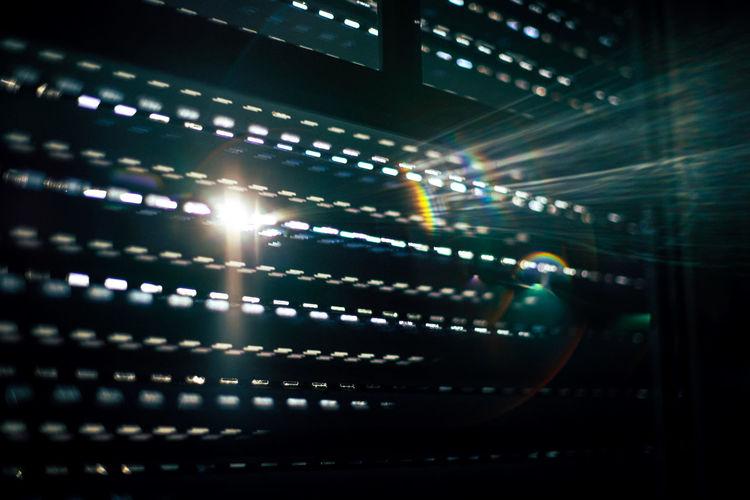 Sunbeam streaming through window