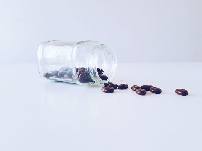 My Picture Glassjar Chocolate Chocolate Coffee Beans Today Pale Palegrunge