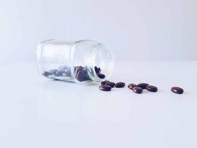 My Picture Glassjar Chocolate Chocolate Coffee Beans Today Pale Palegrunge