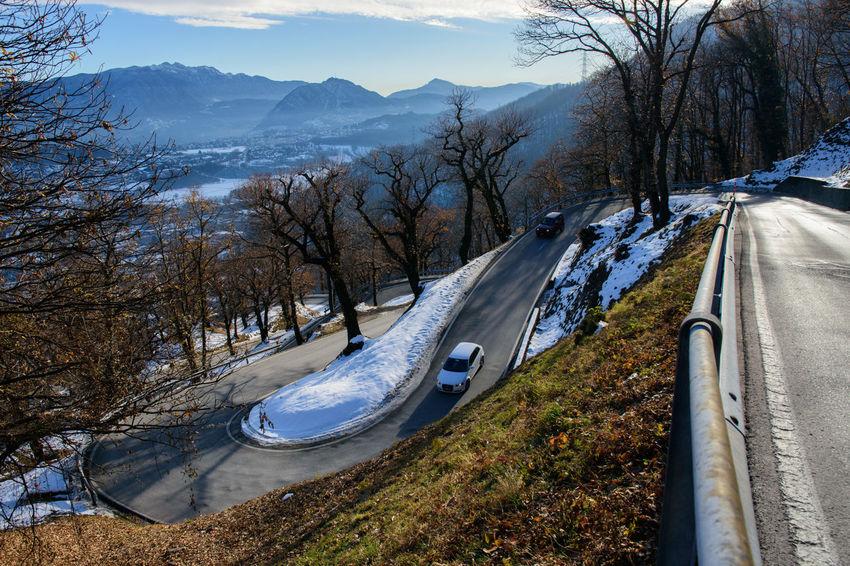 Arosio Switzerland Day Mountain Nature Outdoors Road Scenics Snow Transportation Tree Winter Shades Of Winter
