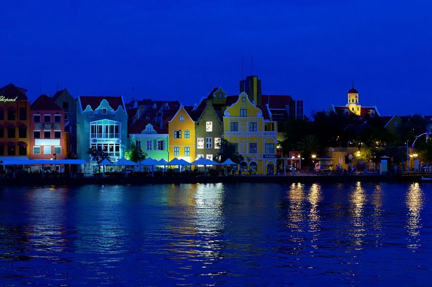 Handelskade UNESCO World Heritage Site Architecture Building Building Exterior Built Structure City Cityscape House Illuminated Night No People Outdoors Reflection Residential District Town Travel Destinations Water Waterfront