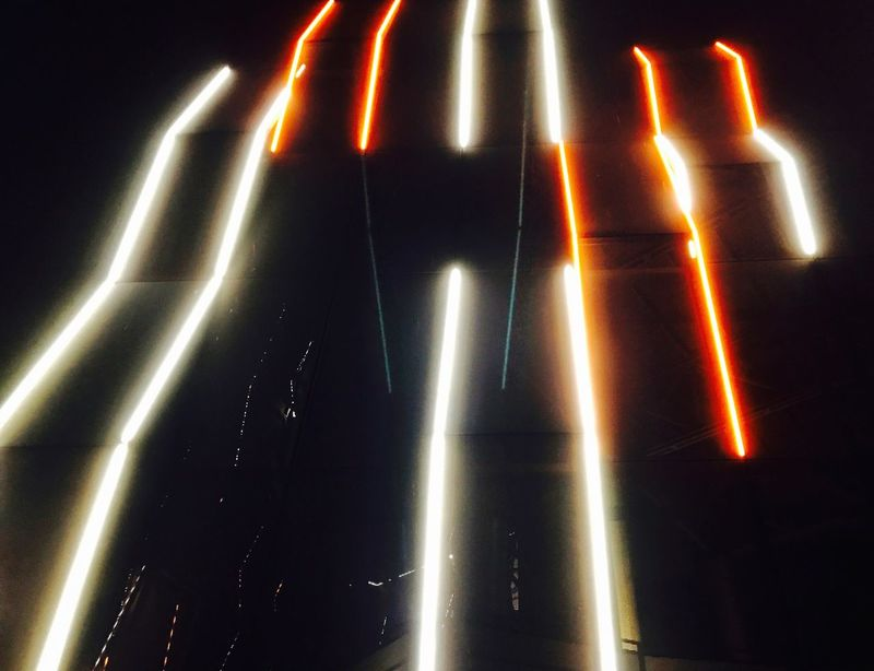 Illuminated Lighting Equipment Night Long Exposure Outdoors No People Performance Light Light And Shadow Lighting Equipment Building Exterior Nightphotography Night Lights Orange White Yalova Türkiye Turkey Yellow Electricity  Pattern City City Street Street