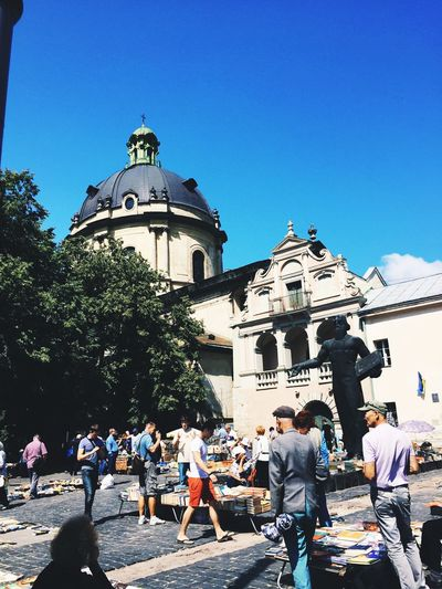 Ukraine Lviv Summer Summertime Colors People Photography Streatphotograpy Color Real People Religion Sky Storyformylife