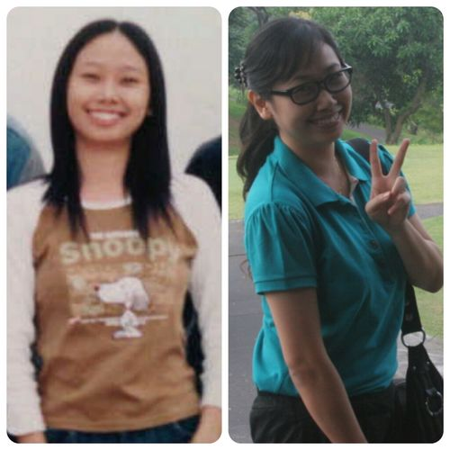 Just found my pic when I was at Senior high school, it's about 15 years ago (the left side) :D and me now (the right side) haha Just For Fun