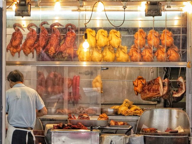 Street Food Chinese Food Chinese Cusine Chinese Food Crispy Pork Soy Chicken BBQ Chicken Bbq Gose Delicious Freshness Market Roasted Food And Drink Gourmet Ready-to-eat Pork Meat Food Retail