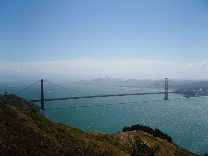 Golden Gate Connection Bridge - Man Made Structure Suspension Bridge Mountain Transportation Sky Mobility In Mega Cities Nature Built Structure Outdoors Architecture River Scenics Water Tranquil Scene Travel Destinations Day Landscape No People Travel Cable