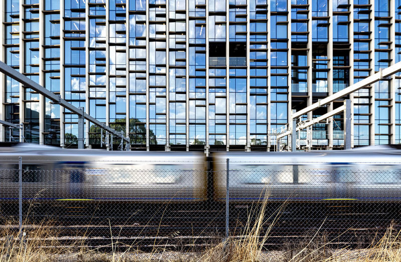 Architecture Building Exterior Built Structure Chainlink Fence City Day No People Outdoors Train